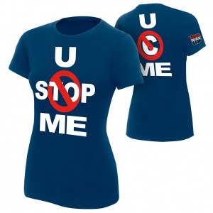 "John Cena ""U Can't Stop Me"" Navy Women's Authentic T-Shirt"