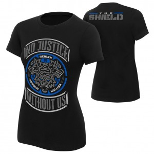 """The Shield """"No Justice Without Us"""" Special Edition Women's T-Shirt"""