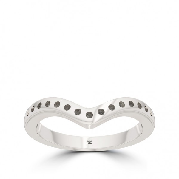 Charlotte Flair Bixler Beaded Stackable Ring in Sterling Silver