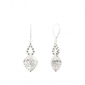 Charlotte Flair Bixler Dangle Earrings in Sterling Silver