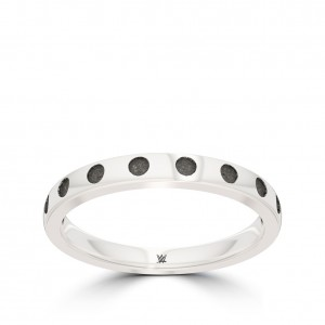 Asuka Bixler Beaded Stackable Ring in Sterling Silver