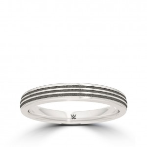 Asuka Bixler Ribbed Stackable Ring in Sterling Silver
