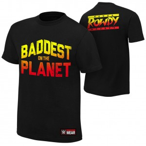 """Ronda Rousey """"Baddest On The Planet"""" Authentic T-Shirt"""
