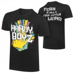 """The Hardy Boyz """"Fear is only a Four Letter Word"""" Retro T-Shirt"""