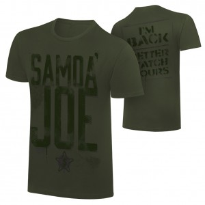 "Samoa Joe ""I'm Back Better Watch Yours"" T-Shirt"