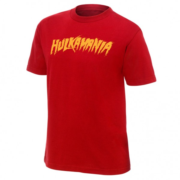 "Hulk Hogan ""Hulkamania"" Red Youth Authentic T-Shirt"