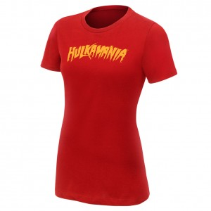 "Hulk Hogan ""Hulkamania"" Red Women's Authentic T-Shirt"