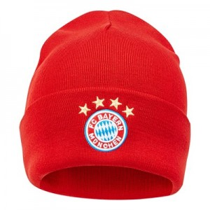 FC Bayern 3 Stripe Woolie Hat - Red