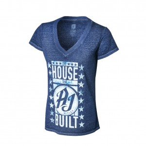 "AJ Styles ""The House that AJ Styles Built"" Acid Wash Women's T-Shirt"