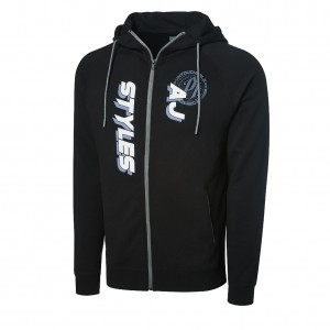 "AJ Styles ""The Untouchable One"" Full Zip Hoodie Sweatshirt"