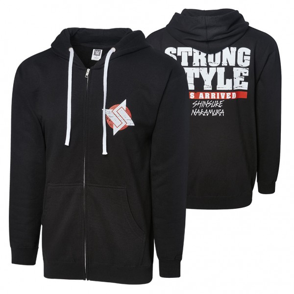 "Shinsuke Nakamura ""Strong Style Has Arrived"" Full Zip Hoodie Sweatshirt"