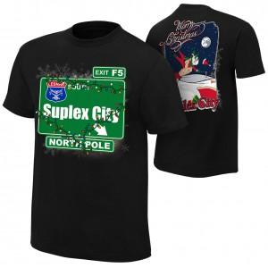 "Brock Lesnar ""Suplex City North Pole"" Holiday T-Shirt"