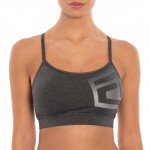 "Tapout ""Power Button"" Charcoal Heather Bra"