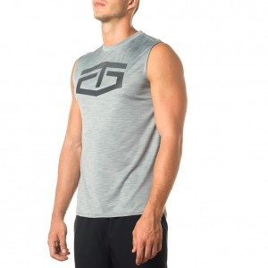 "Tapout Grey Heather ""Battle"" Logo T-Shirt"