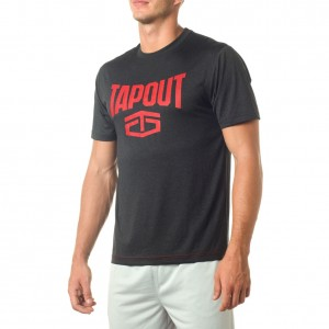 """Tapout Black Heather """"Wrecking Crew"""" Red T-Shirt"""