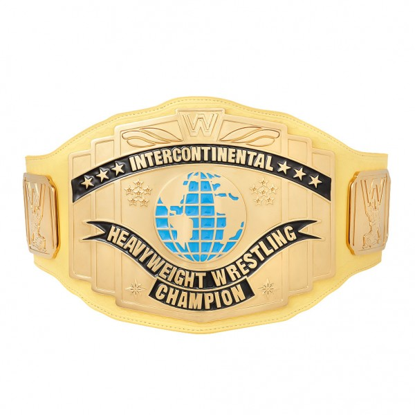 WWE Yellow Intercontinental Championship Replica Title Belt