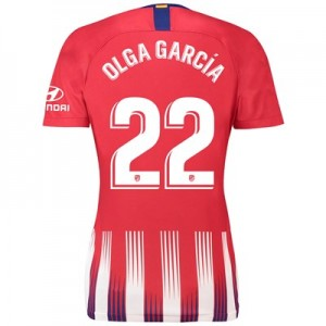 Atlético de Madrid Home Stadium Shirt 2018-19 - Womens with Olga García 22 printing