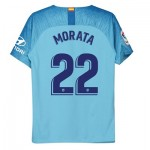 Atlético de Madrid Away Stadium Shirt 2018-19 - Kids with Morata 22 printing