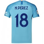Atlético de Madrid Away Cup Stadium Shirt 2018-19 with N. Pérez 18 printing