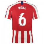 Atlético de Madrid Home Stadium Shirt 2019-20 with Koke 6 printing