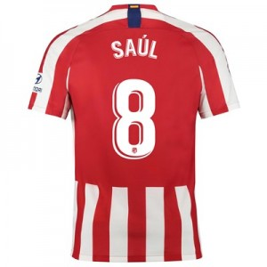Atlético de Madrid Home Stadium Shirt 2019-20 with Saúl 8 printing