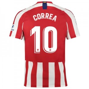 Atlético de Madrid Home Stadium Shirt 2019-20 with Correa 10 printing