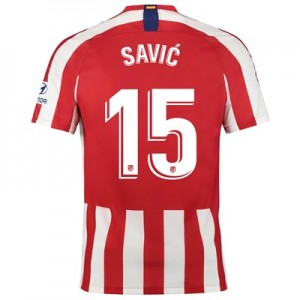 Atlético de Madrid Home Stadium Shirt 2019-20 with Savic 15 printing