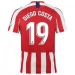 Atlético de Madrid Home Stadium Shirt 2019-20 with Diego Costa 19 printing