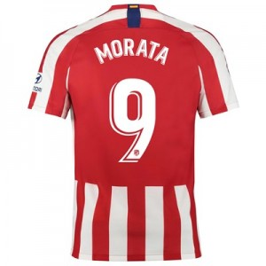 Atlético de Madrid Home Stadium Shirt 2019-20 with Morata 9 printing