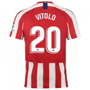 Atlético de Madrid Home Stadium Shirt 2019-20 with Vitolo 20 printing