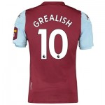 Aston Villa Home Elite Fit Shirt 2019-20 with Grealish 10 printing