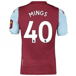 Aston Villa Home Elite Fit Shirt 2019-20 with Mings 40 printing