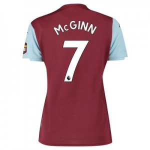 Aston Villa Home Shirt 2019-20 - Womens with McGinn 7 printing