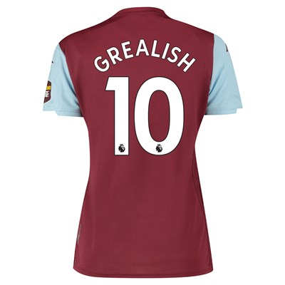 Aston Villa Home Shirt 2019-20 - Womens with Grealish 10 printing