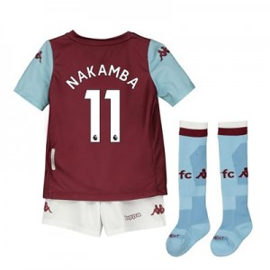 Aston Villa Home Minikit 2019-20 with Nakamba 11 printing