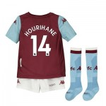 Aston Villa Home Minikit 2019-20 with Hourihane 14 printing