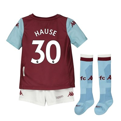 Aston Villa Home Minikit 2019-20 with Hause 30 printing