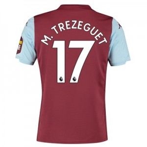 Aston Villa Home Shirt 2019-20 with M. Trezeguet 17 printing