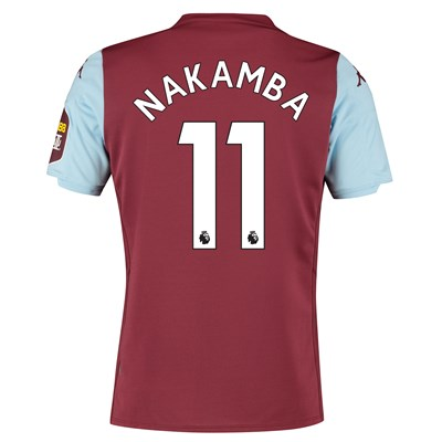 Aston Villa Home Shirt 2019-20 with Nakamba 11 printing