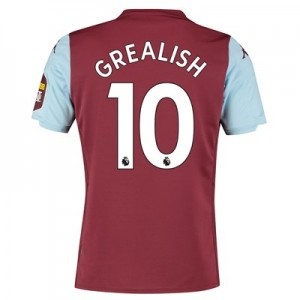 Aston Villa Home Shirt 2019-20 with Grealish 10 printing