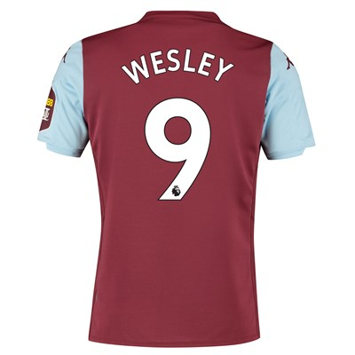 Aston Villa Home Shirt 2019-20 with Wesley 9 printing