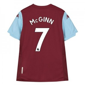 Aston Villa Home Shirt 2019-20 - Kids with McGinn 7 printing