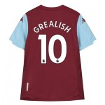 Aston Villa Home Shirt 2019-20 - Kids with Grealish 10 printing