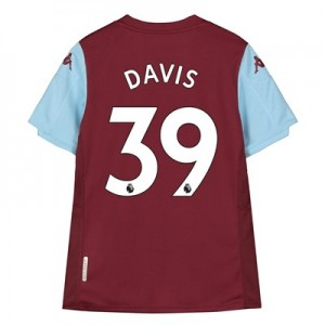 Aston Villa Home Shirt 2019-20 - Kids with Davis 39 printing