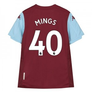 Aston Villa Home Shirt 2019-20 - Kids with Mings 40 printing