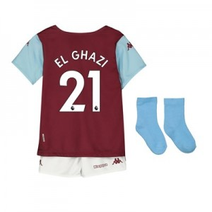 Aston Villa Home Babykit 2019-20 with El Ghazi 21 printing