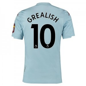 Aston Villa Away Shirt 2019-20 with Grealish 10 printing