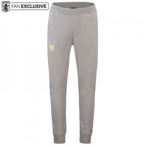 Aston Villa Core Crest Sweat Pants - Grey Marl - Mens