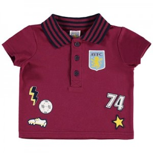 Aston Villa Baby Polo Shirt - Claret - Boys