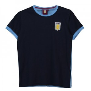 Aston Villa Core Classic Crest T - Navy - Junior Boys